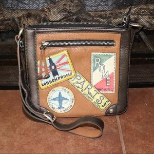 Brighton Leather Patches Crossbody